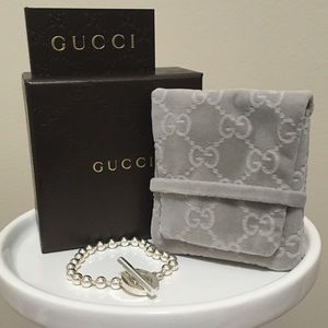 """""""Beaded"""" Gucci Sterling Silver Boule Bracelet! 💥"""